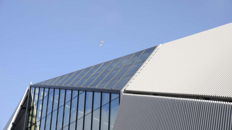 Les Eleis Centre commercial, Cherbourg, façade