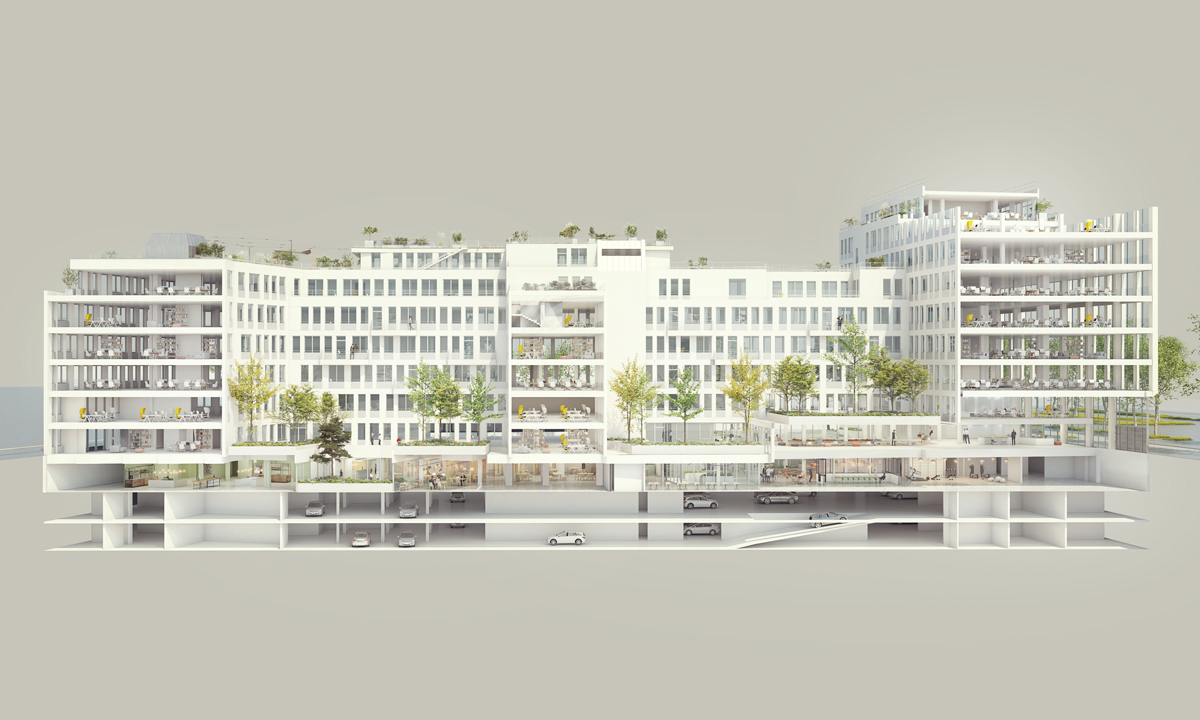 185 avenue Charles de Gaulle, Neuilly, coupe