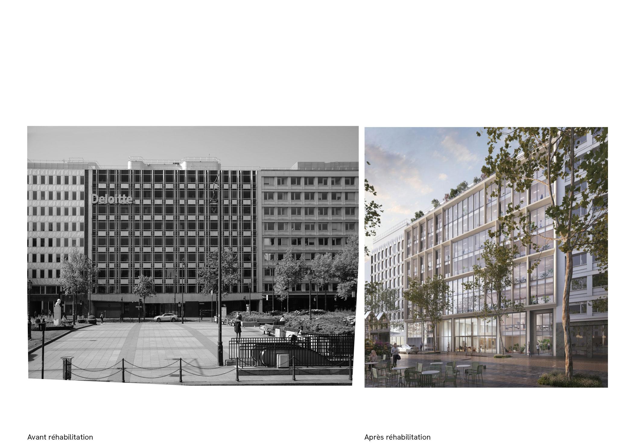 185 avenue Charles de Gaulle, Neuilly, avant, après