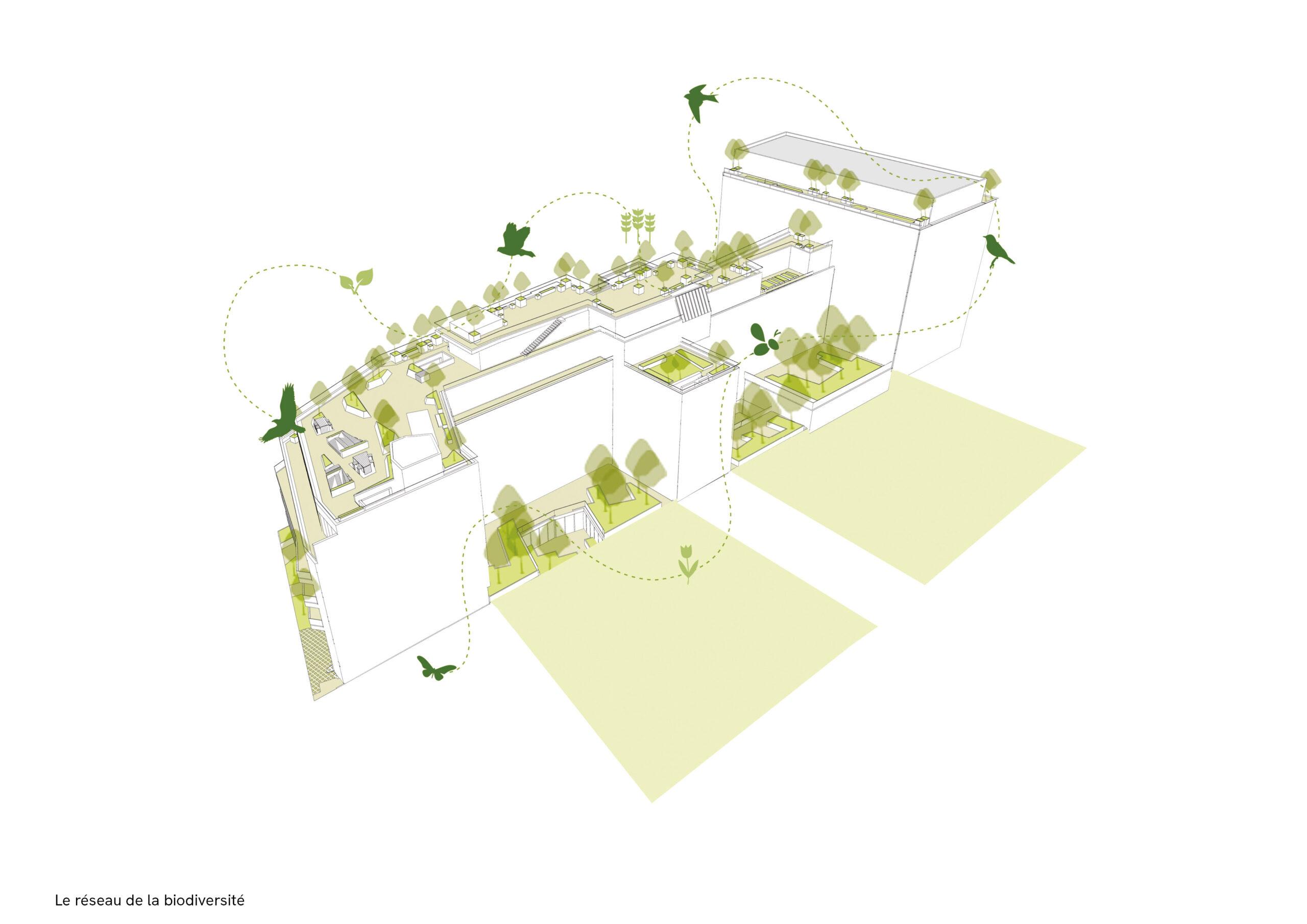 185 avenue Charles de Gaulle, Neuilly, diagramme biodiversité