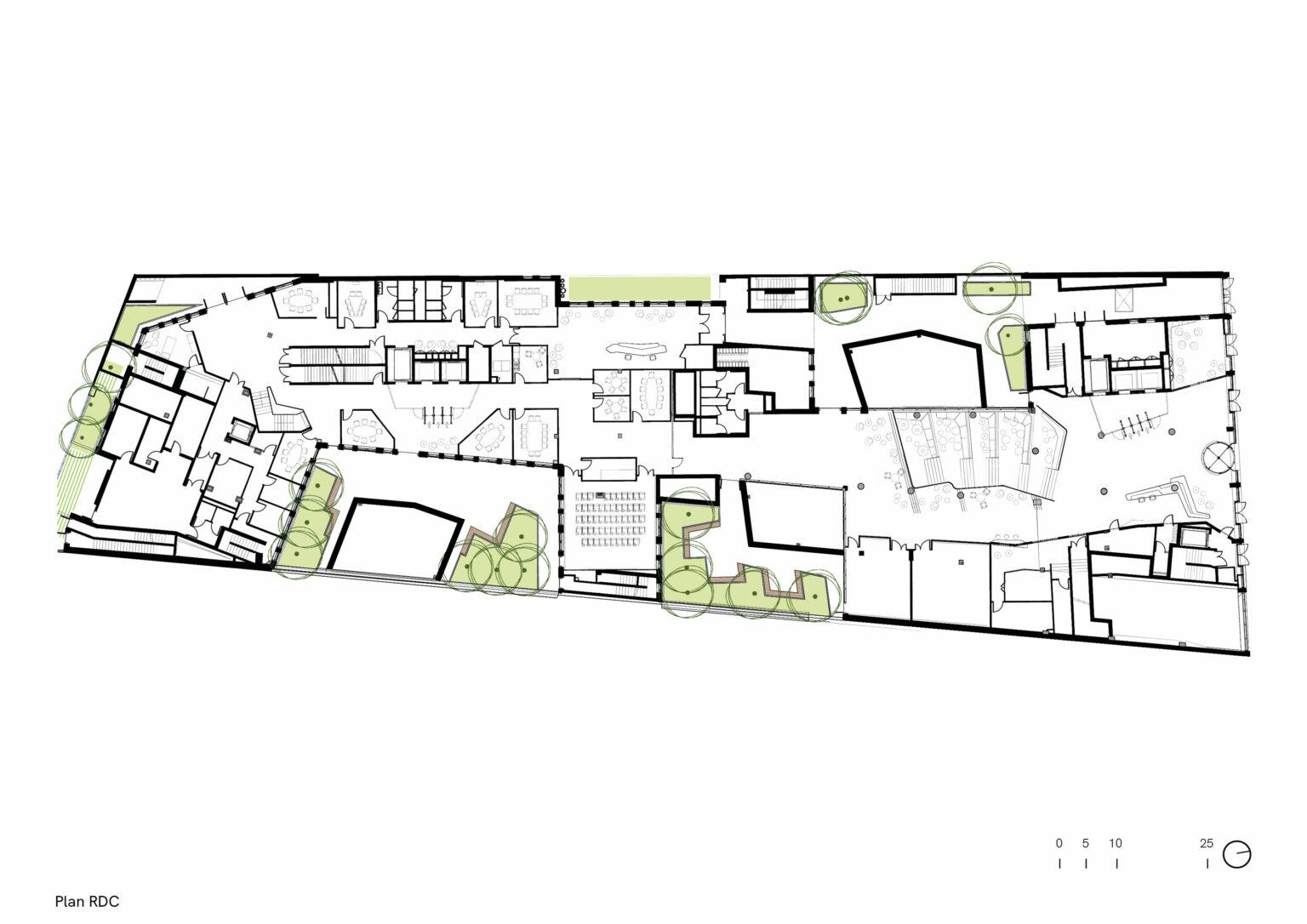 185 avenue Charles de Gaulle, Neuilly, plan rdc